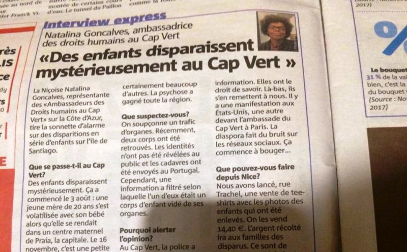 Recorte do jornal  Nice Matin