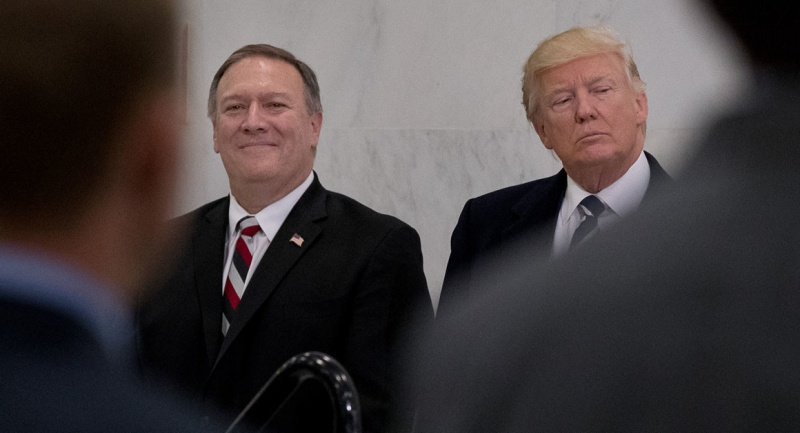 Mike Pompeo e Dondald Trump