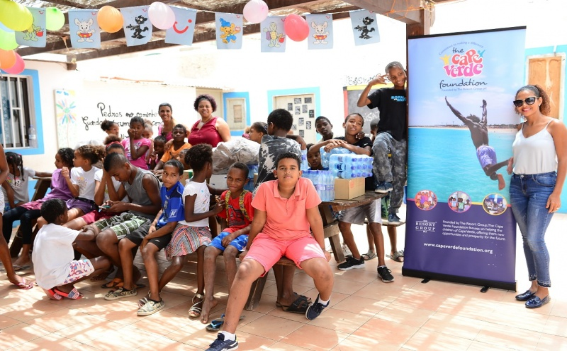 Cape Verde Foundation (do The Resort Group) patrocinou o lanche do evento, que decorreu no espaço do projecto Nos Kaza - Sal.