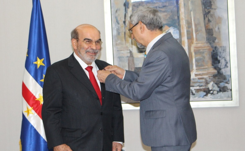 José Graziano da Silva e Jorge Carlos Fonseca