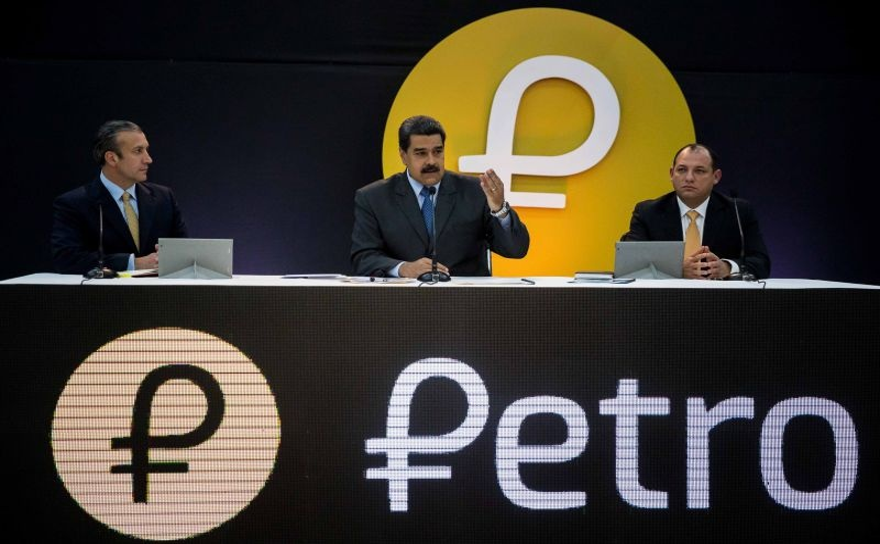 Nicolas Maduro na apresentação da criptomoeda Petro