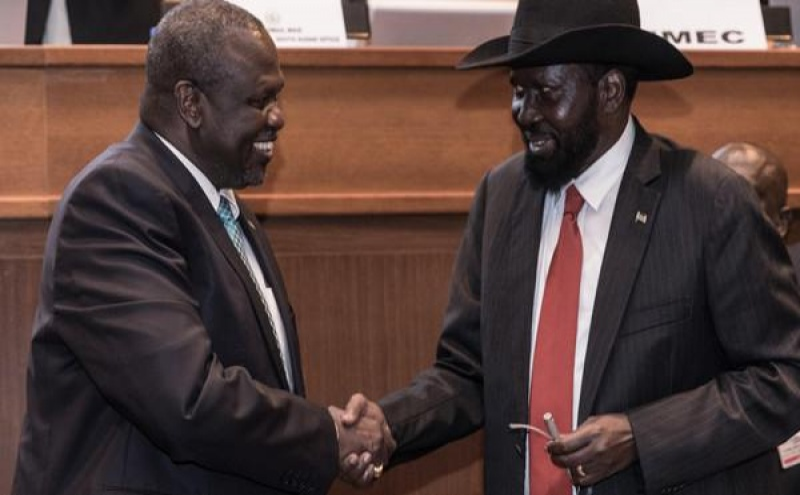 Salva Kiir e Riek Machar