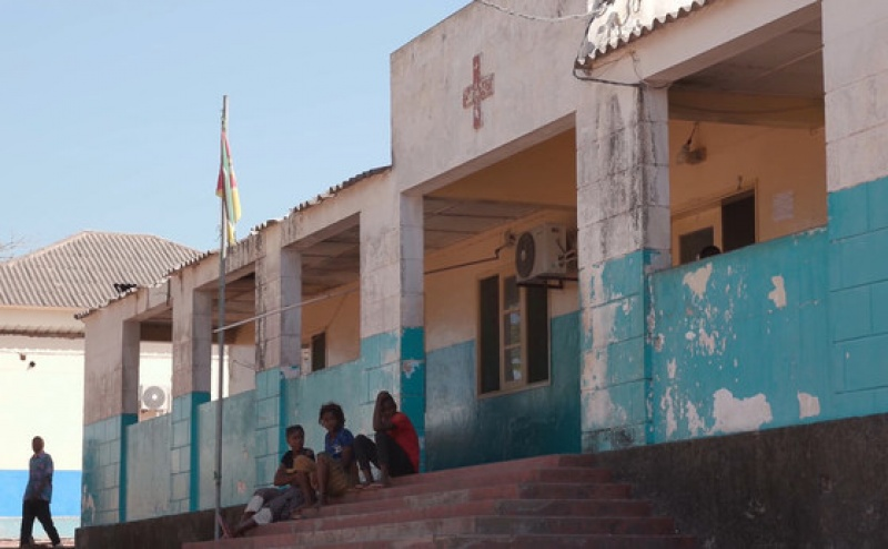 Hospital de Macomia na província de Cabo Delgado, em Moçambique.